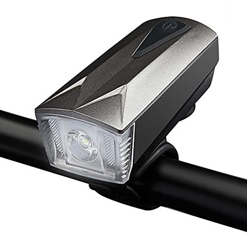 QQWJSH Luz de deslumbramiento de Advertencia de conducción Nocturna de Bicicleta de montaña de Alto Lumen Luz de Bicicleta Luz Delantera Linterna USB Recargable Cuerno Accesorios para Montar