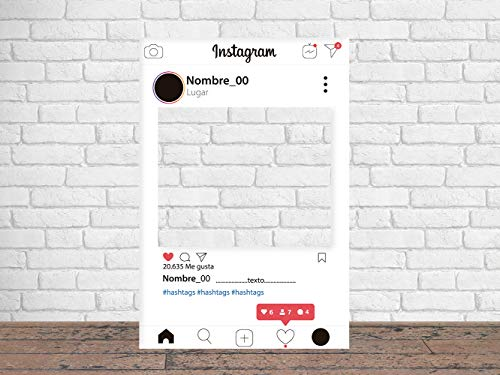 Photocall Instagram 2019 80 x 100 cm | Regalos para Cumpleaños | Photocall Económico y Original | Ideas para Regalos | Regalos Personalizados de Cumpleaños |
