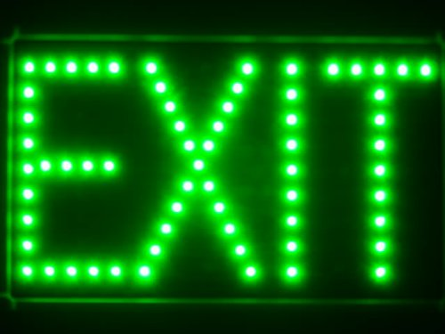 ADVPRO led023-g EXIT Green LED Neon Light Sign Barlicht Neonlicht Lichtwerbung