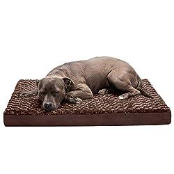 FurHaven Deluxe Plush Memory Foam Bed