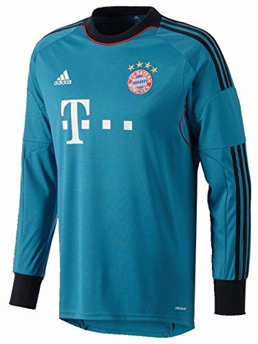 adidas Herren Torwarttrikot FC Bayern München, Türkis/Schwarz, XL, Z26194