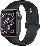MAPPE Cinturino in Silicone per Cinturino Apple Watch 38Mm 42Mm per Cinturino Iwatch 44Mm 40Mm Cinturino Sportivo Cinturino Correa per Apple Watch 5 4 3 2 1 Accessori, Nero, 38Mm 40Mm SM