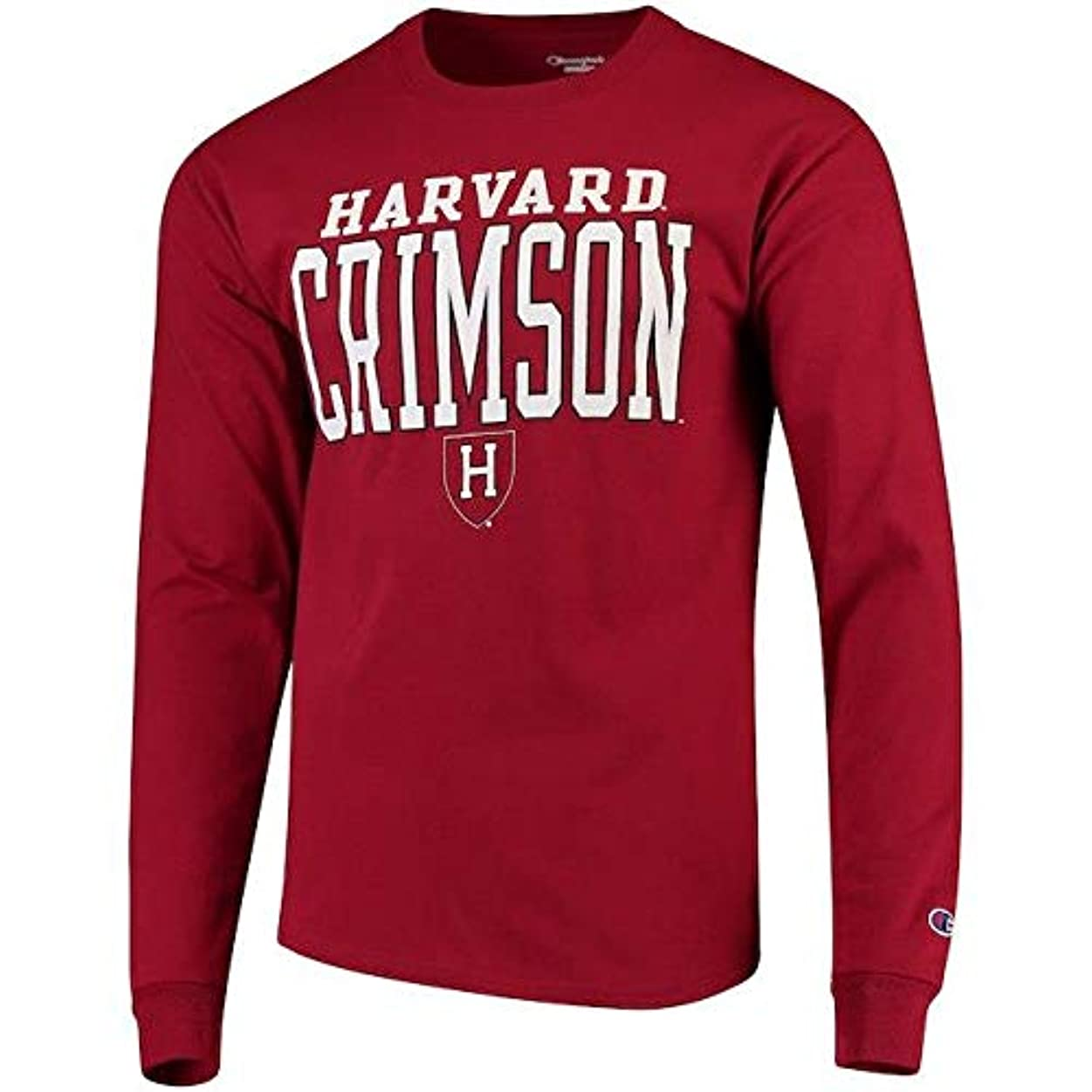 どれでもご予約寝室Champion Champion Harvard Crimson Crimson Stacked Logo Long Sleeve T-Shirt スポーツ用品 【並行輸入品】