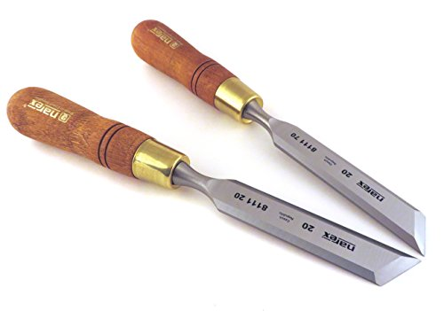 Narex Right & Left 20 mm (13 16 Inch) Skew Paring Chisels 811120 811170