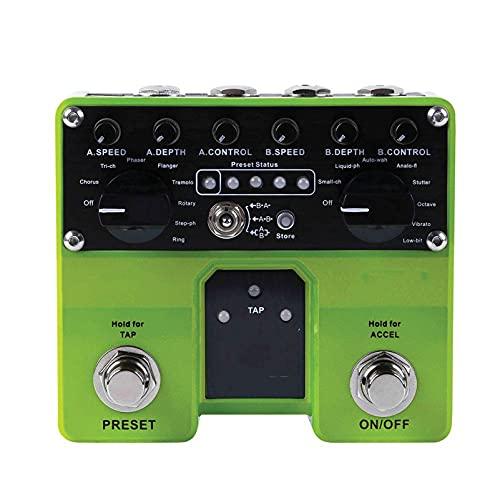 QWERTOUR Pro-Modulation Gitarrenpedal 16 Modulationseffekte 4 Benutzervoreinstellungen Tap Tempo Funktionalität Effektpedal