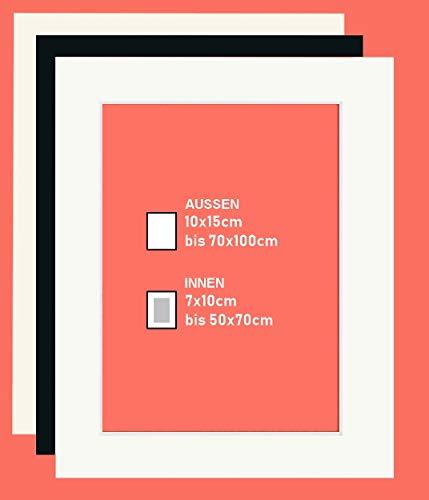 2 Stück Passepartout Naturweiss - Aussenformat 70x100cm - Innenformat 49x69 (für Bild 50x70cm)