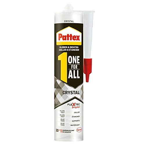 4 x 290 g Pattex Kleben & Dichten one for all Crystal 1,16 Kg