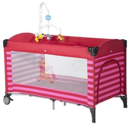 Prokids Disney Baby G220Ar - Reisebett mit Mobile, Travelbed Lux with mobile, Farbe Poolicious Red, Motiv Winnie Pooh