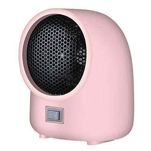 LTLJX Portátil Calefactor Eléctrico, 400W Calentacdor Cerámico Redondo con Protección contra Sobrecalentamiento para Espacio Pequeño Dormitorio Oficina Hogar,Pink