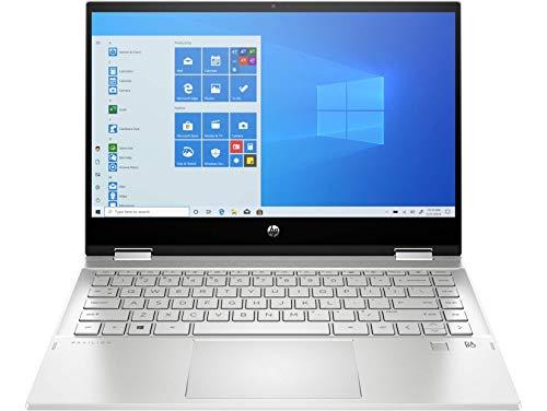 HP Pavilion 14 x360 14-dw1018ns - Ordenador portátil convertible de 14' FullHD Táctil (Intel Core i7-1165G7, 8GB de RAM, 1TB SSD, Intel Iris Xe, Windows 10 ) Plata - teclado QWERTY Español