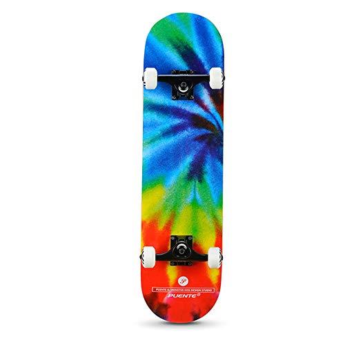 BLH 31-Zoll-Profi Skateboard abgeschlossen, 7 Schicht Ahorn konkaver Doppel Kick Skateboard, Skateboard Fähigkeiten für Jungen Anfänger, Mädchen, Junge, Kinder, Erwachsene,Palace