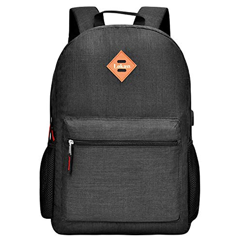 CoolBELL Backpack Casual Daypack Student Book Bag Water-Resistant Travel Backpack Multipurpose 15.6 Inches Laptop Backpack for Men/Women (Black)