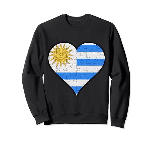 Corazón de la bandera uruguaya Sudadera