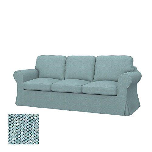 Soferia Bezug fur IKEA EKTORP 3er-Sofa, Stoff Nordic Sea Green