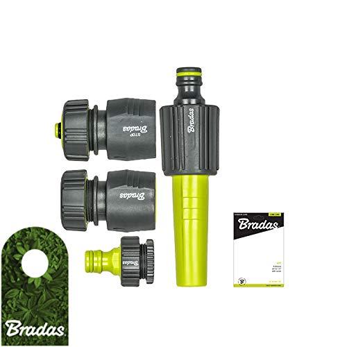 Bradas Lime Line Soft 4253 - Juego de boquillas para Manguera de 1/2', 4 Unidades