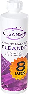 Cleansio Washing Machine Cleaner – Residue Destroyer and Odor Eliminator, 8 Uses per Bottle,16oz