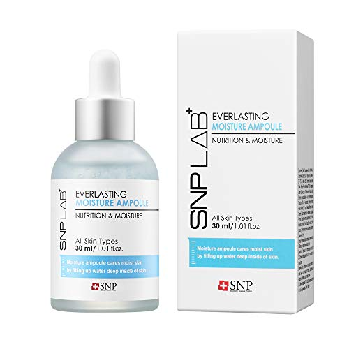 SNP Lab+ - Everlasting Moisture Ampoule - Facial & Skin Serum with Maximum Hydration for All Dry Skin Types - 30ml - Best Gift Idea for Mom, Girlfriend, Wife, Her, Women