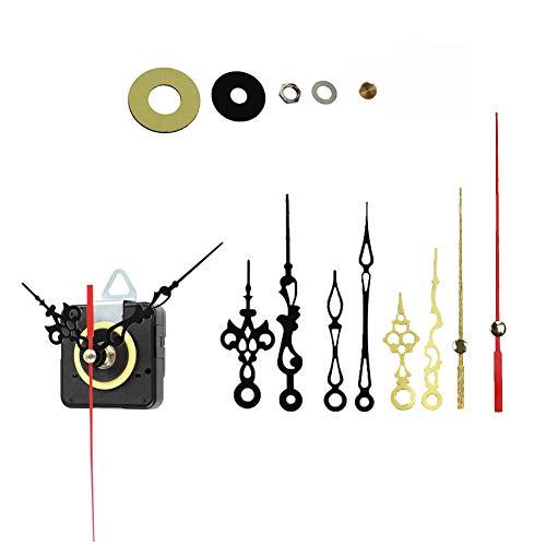 Amazlife Quartz Wall Clock Movement Mechanisms Battery Powered Clock Kit for DIY Clock Replacement (Black)