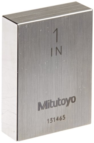 Mitutoyo Steel Rectangular Gage Block, ASME Grade AS-1, 1.0