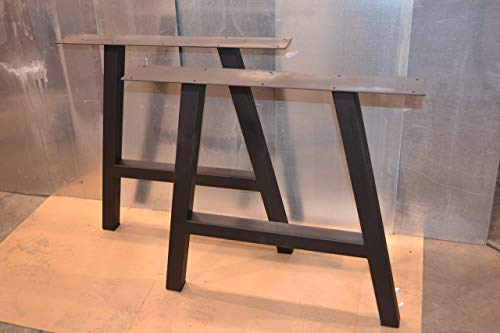 Metal Table Legs, A-Frame Style - Any Size and Color