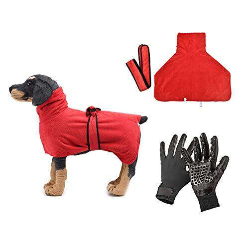 Barrageon Albornoz Mascotas Perros Toalla Baño Abrigo Set Mascotas Masaje Grooming Guantes Baño...