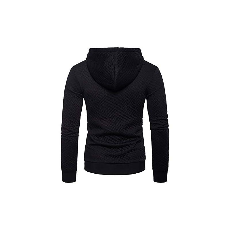 Mens Zip Up Hoodies Tracksuit Tops Hoody Plain Sport Hooded Sweatshirts S-2XL