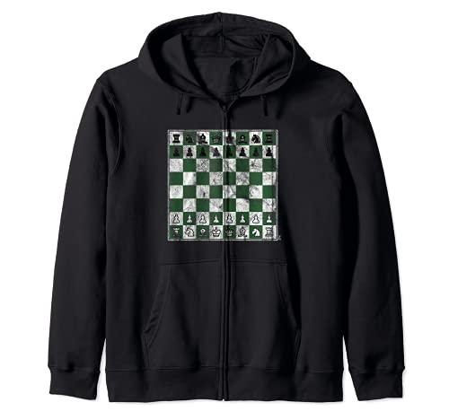 チェスゲーム チェスボード チェスの駒 チェックメイト チェスボード ジップパーカー