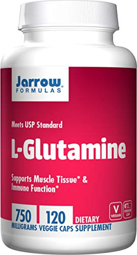 Jarrow Formulas L-Glutamine, 750mg - 120 vcaps - 120 Cápsulas