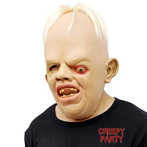 CreepyParty Fiesta de Disfraces de Halloween Máscara de Cabeza de Látex Goonies Sloth Máscara de Terror Horror