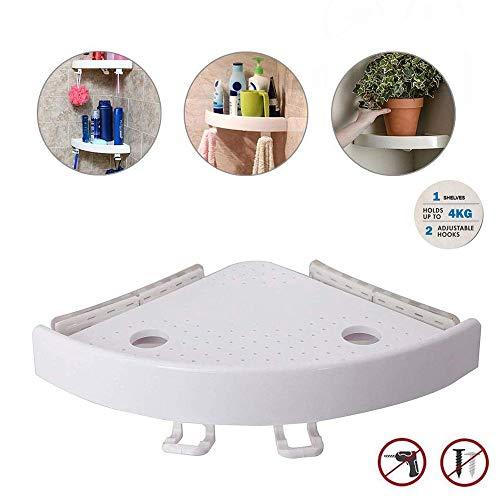 Eckhalterung Dusche,Duschregal Eckregal Corner Storage Holder Shelves Ohne Bohren, ideal für Schlafzimmer, Badezimmer, Küche Usw (1 PCS)