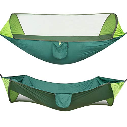 DaMohony Hammock Camping Portable Folding Hanging Hammock Double with Mosquito Net for Outdoor Indoor Hiking Camping Backpacking Survival Travel