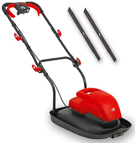 Grizzly Tools Cortacésped eléctrico ligero con cojín de aire, cortacésped eléctrico con 1600 W de potencia (cortacésped de aire + cuchilla de repuesto)