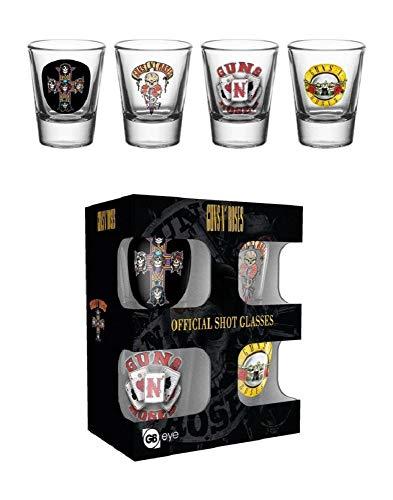 GB eye Set 4 Vasos chupito Guns N Roses, Giallo, Standard