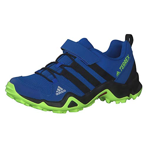 adidas Unisex-Child Terrex AX2R CF K Trail Running Shoe, Azul Tech Indigo Core Black Signal Green, 40 EU