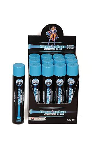 Ultra Pure 12 Cans Case Plus 420ml Butane - British European Refined Lighter Fuel Refill Gas - Maximum Pressure - Limited Edition 420ml Better Than 100ml 300ml 400ml