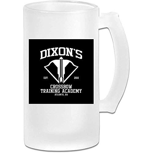 Gedruckte 16 Unzen Milchglas Bier Stein Tasse Tasse - Dixons Armbrust Training Academy - Grafikbecher
