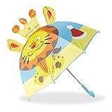 Relaxdays Lion Effet Paraguas Infantil de León en 3D, Poliéster, 72 cm