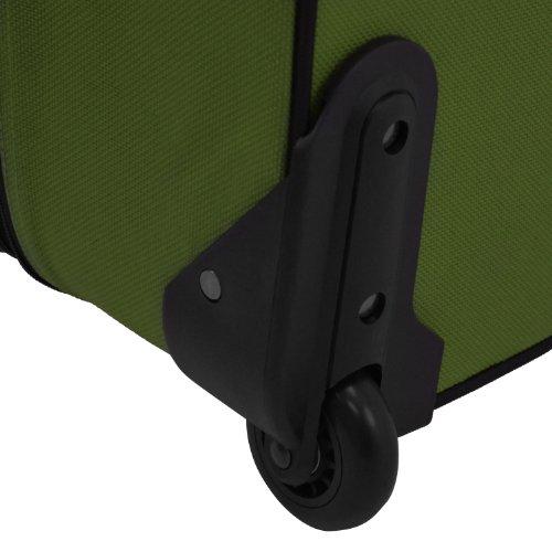 U.S. Traveler Rio Rugged Fabric Expandable Carry-On Luggage Set, Green