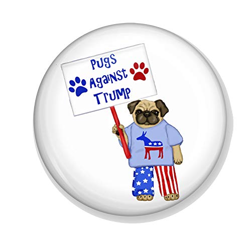 Gifts & Gadgets Co. Pugs Against Trump Miroir de maquillage rond 58 mm