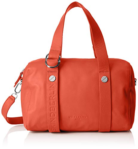 Liebeskind Berlin Damen Ribowlm Ring Bowling Tasche, Orange (Rusty Rea), 16x32x27 cm