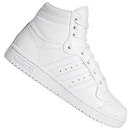 Adidas Top Ten Hi J, Baskets mode garçon - Blanc - Bianco/Bianco, 39 1/3 EU EU
