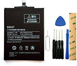for Xiaomi Redmi 3S Replacement Battery BM47 Free Adhesive Tool