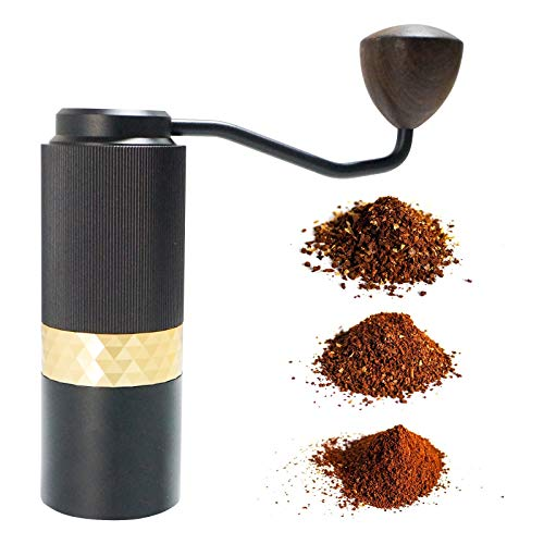 Manual Coffee Grinder, Pour Over Brew Barista, SOTECH Adjustable Setting Conical Burr Mill Aluminium Bean Coffee Grinder For Brewing, Drip Coffee, Espresso, French Press, Turkish Brew