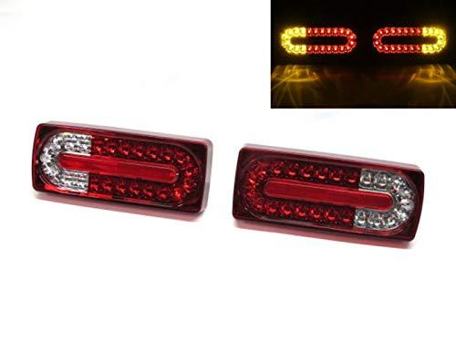 CrazyTheGod G-CLASS W463 1990-present Wagon/Convertible 2D/3D/5D Luz trasera LED rojo/transparente para Mercedes-Benz