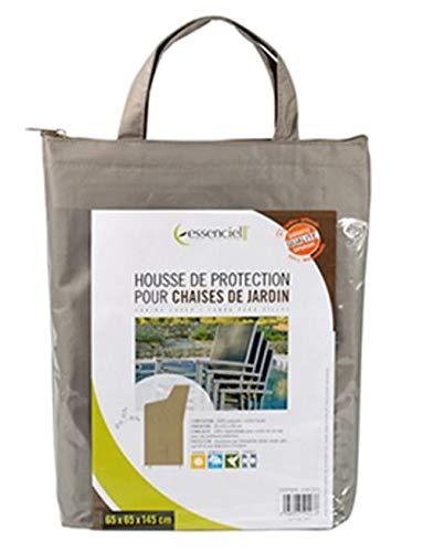 PEGANE Housse de Protection pour chaises de Jardin Coloris Taupe - Dim : 65 x 65 x 145 cm