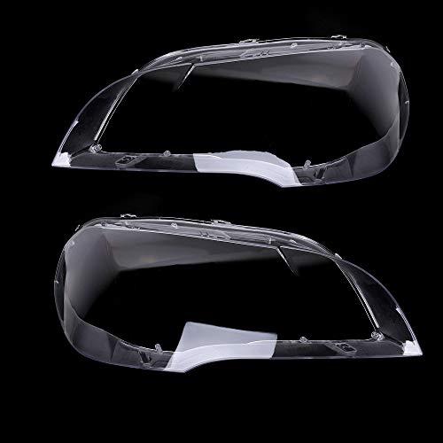 KKmoon, copertura per fari auto, copertura trasparente, protezione per fanali, ricambio per BMW X5 E70 2008-2013