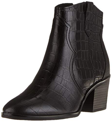 CAPRICE Damen 9-9-25701-25 014 Cowboy Stiefelette, Black Croco, 39 EU