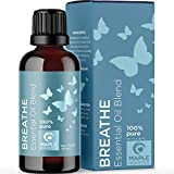 Breathe Blend Essential Oil for Diffuser - Breathe Essential Oil Blend with Eucalyptus Peppermint Tea Tree and Spearmint Mint Essential Oils for Diffusers for Home and Shower Aromatherapy Breathe Oil
