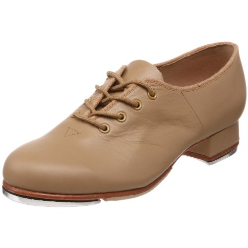 Bloch Dance Women's Jazz Full-Sole Leather Tap Shoe, Tan, 8 X(Medium) US