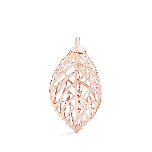 Luces decorativas de vacaciones de Golden Leaves para decoración del hogar, cadena de luces LED sencilla con forma geométrica de diamante, estrella de 6 m, 40 luces, hojas doradas